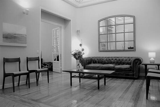 Sala Espera Oficina Calle Espalter Madrid. El Prado Psicólogos